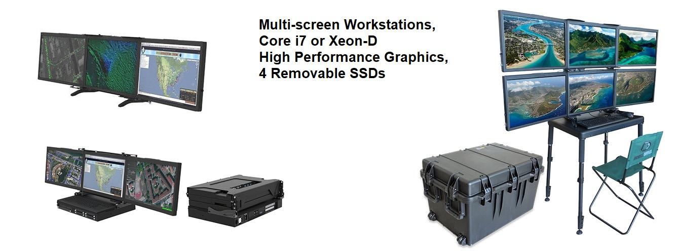 Multi Screen Single Processor Workstations