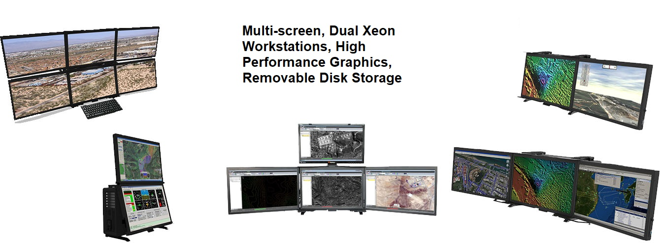 Multi Screen Dual Xeon Workstations
